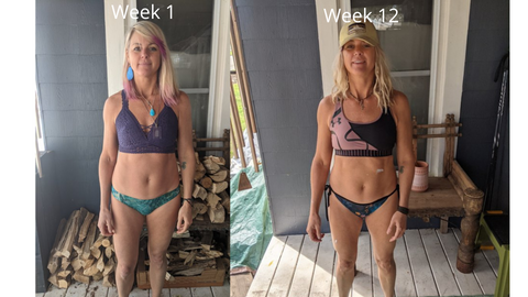 Woman before and after x3 bar
