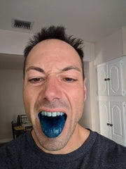 Blue cannatine turns your tongue blue