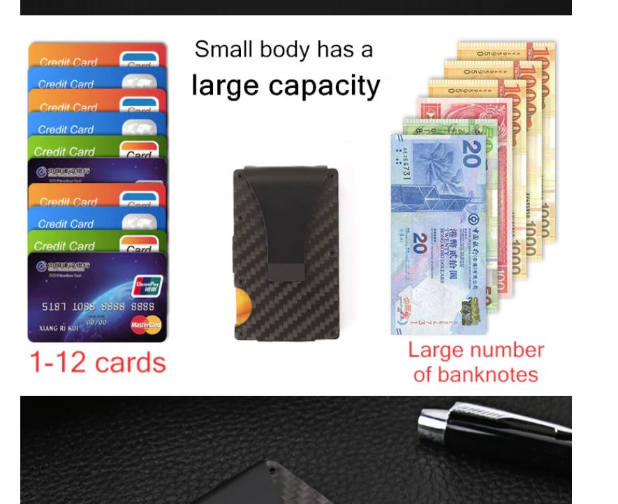 RFID/EMF Blocking Metal Card and Money Holder