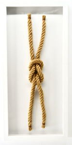 "FRAMED SAILORS KNOT - ""REEF KNOT"""