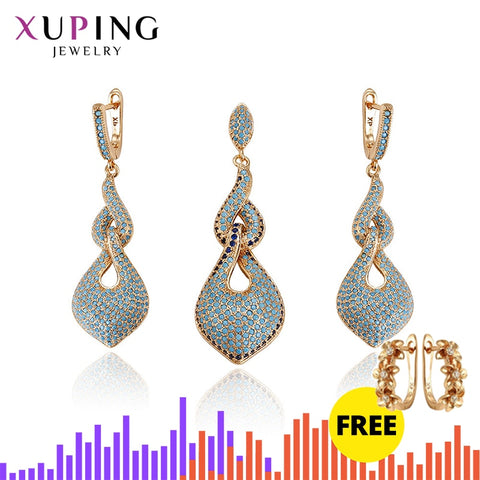 11.11 Xuping Fashion Elegant 2-Pieces Set with Synthetic Cubic Zirconia Jewelry for Women Halloween Gift S61.2-64217