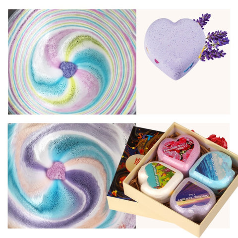 12/6/4/1 Pcs Hot Rainbow Colorful Bubble Shower Soap Set Handmade Moisturizing Soap Bath Salt Soap Bath Bomb Gift Kit TSLM2