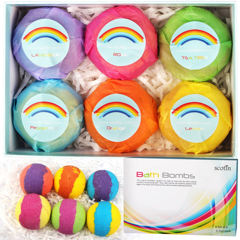 12/6/4/1 Pcs Family Bath Salt Ball Kit Rainbow Colorful Bubble Shower Soap Set Handmade Moisturizing Bath Bomb Salt Gift TSLM2