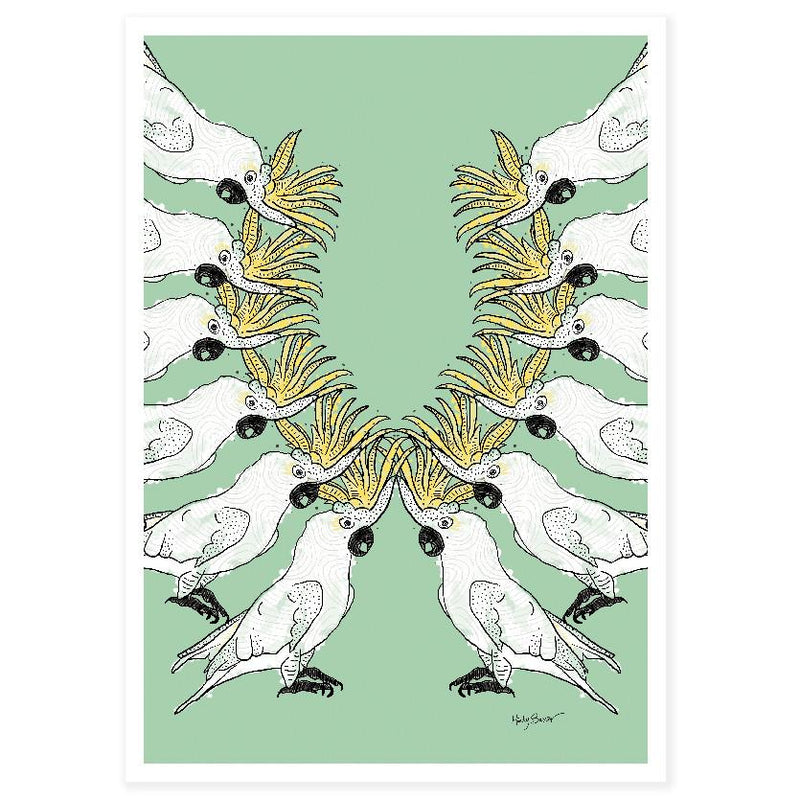 Cockatoo Parade large art print