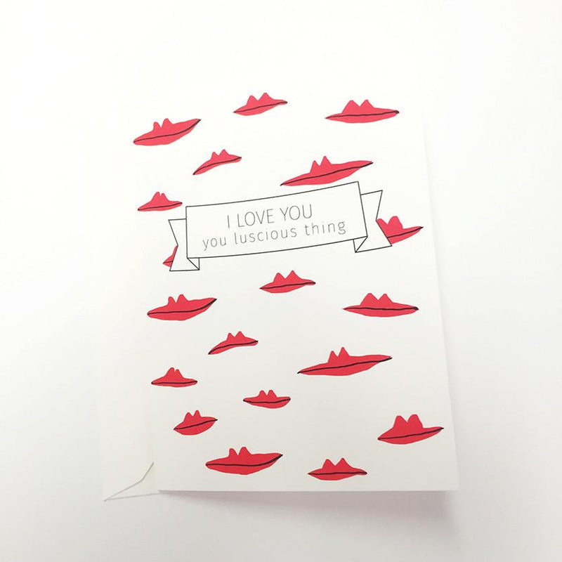 Valentines card Luscious Lips