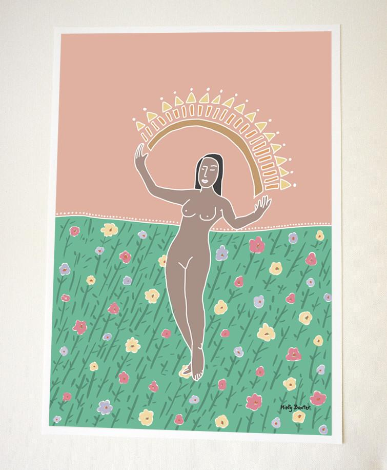 Sun Goddess large art print