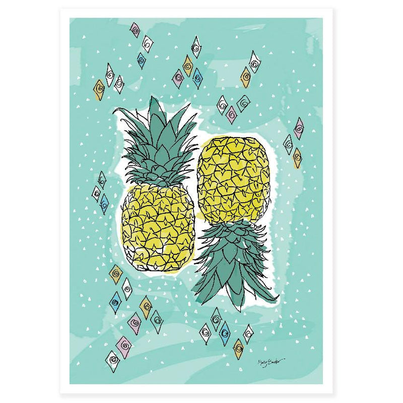 Pineapple large art print