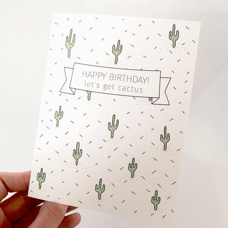 Birthday card Cactus