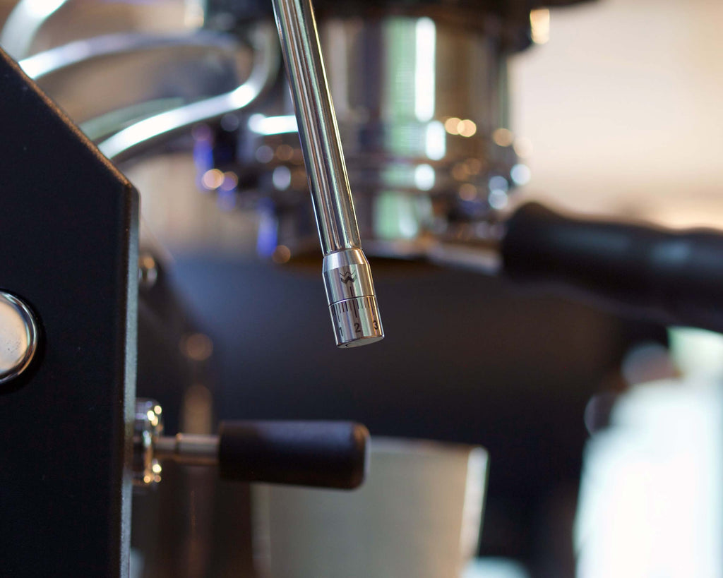 Weber Workshops Steam Dial as attached to La Marzocco Linea Mini steam wand.