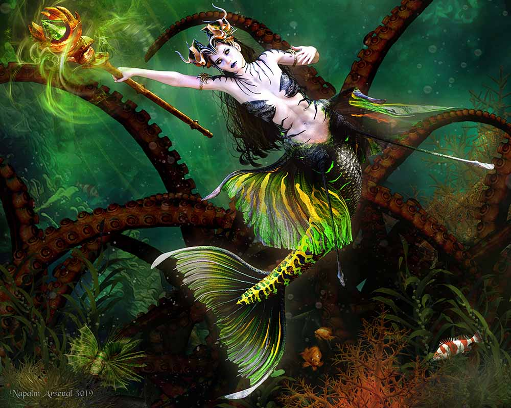 Perils of The Deep - Mermaid Art Prints & Posters