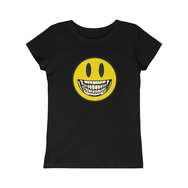 Girl's Princess Dark T-shirt: Smiley Skelly