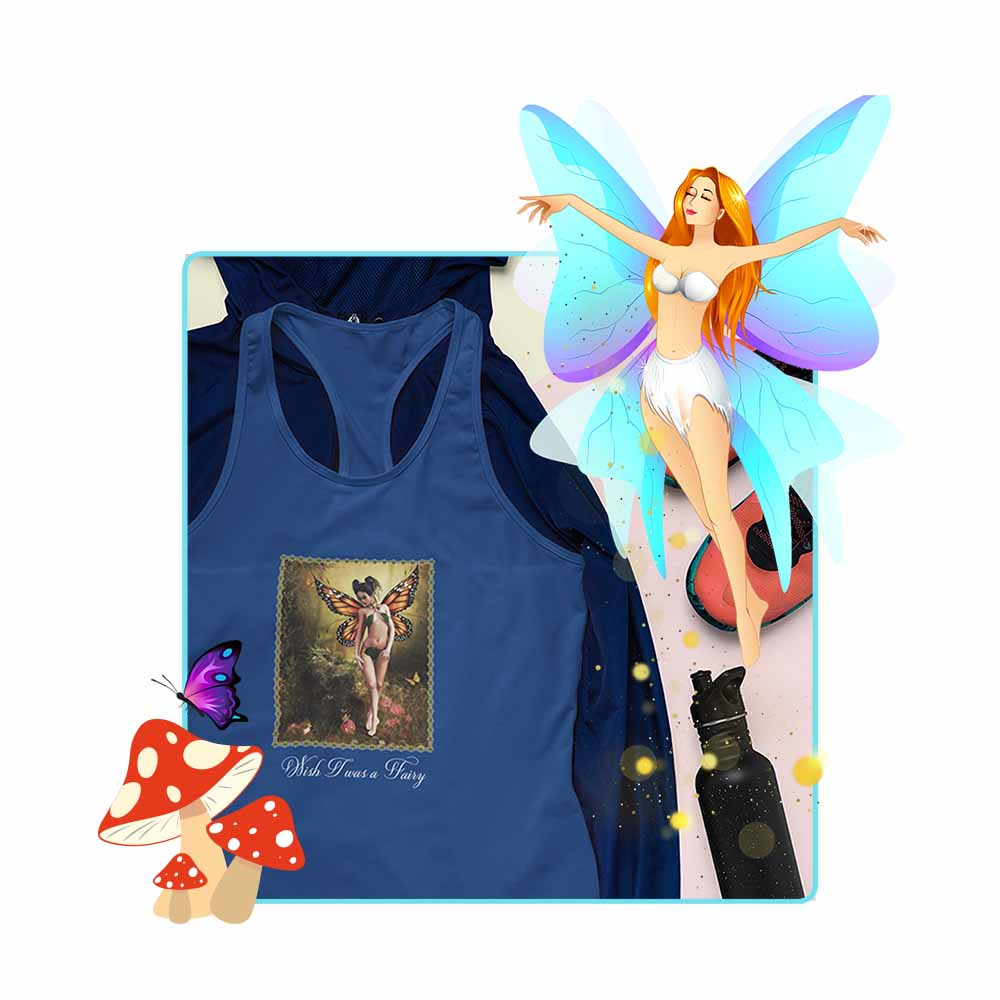 "A Woodland Stroll - ""Wish I was a Fairy"" - Women's Fairy Tank Top"