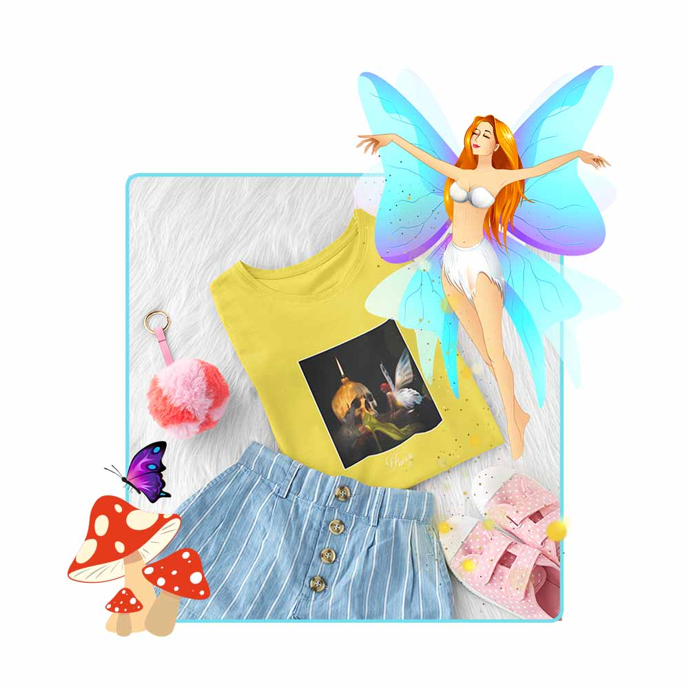 "Cinderella's Fairy Godmother - ""Fairy"" - Girl's Princess Fairy T-shirt"