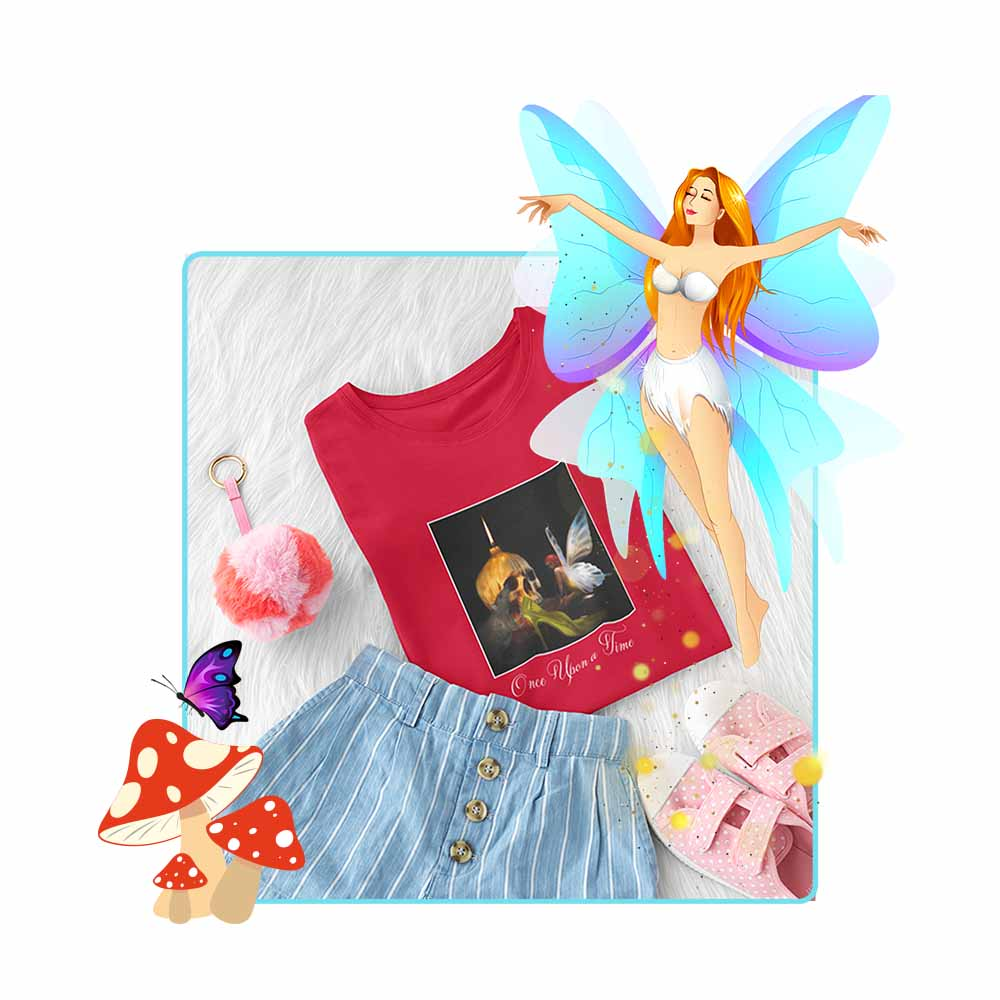 "Cinderella's Fairy Godmother - ""Once Upon a Time"" - Girl's Princess Fairy T-shirt"