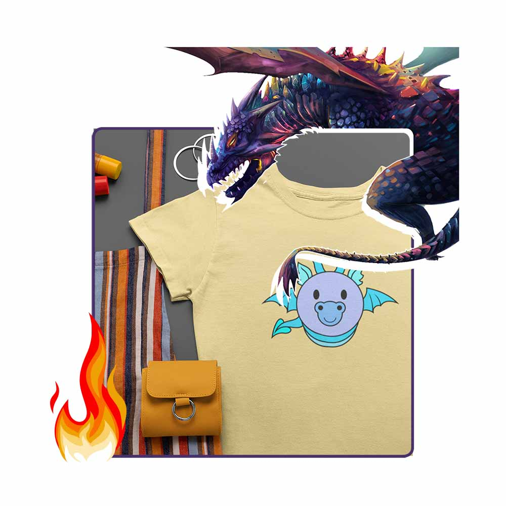 Dragon Bug - Blue - Women's Dragon T-shirt