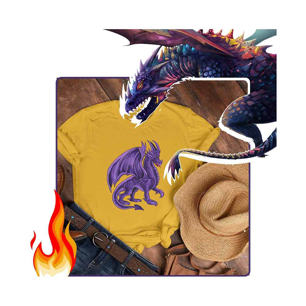 Drako The Dragon - Violet - Unisex Dragon T-shirt