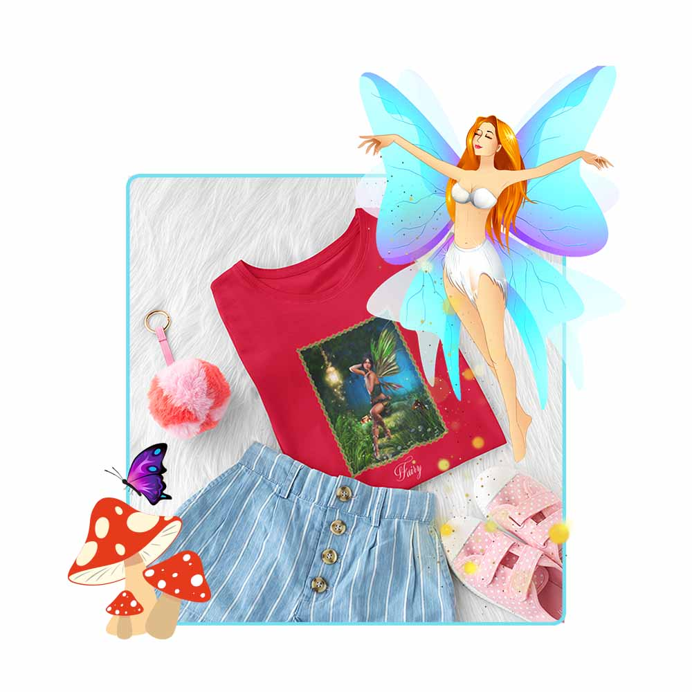 "Forest Fae - ""Fairy"" - Girl's Princess Fairy T-shirt"