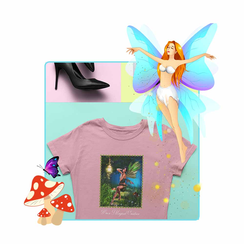 "Forest Fae - ""I'm a Magical Creature"" - Women's Fairy T-shirt"