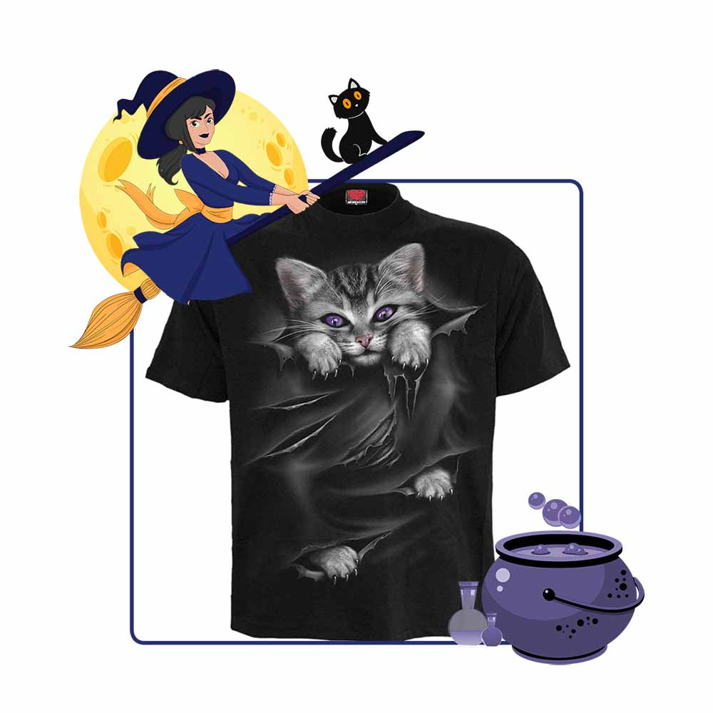 Hidden Kitten - Black Unisex T-Shirt