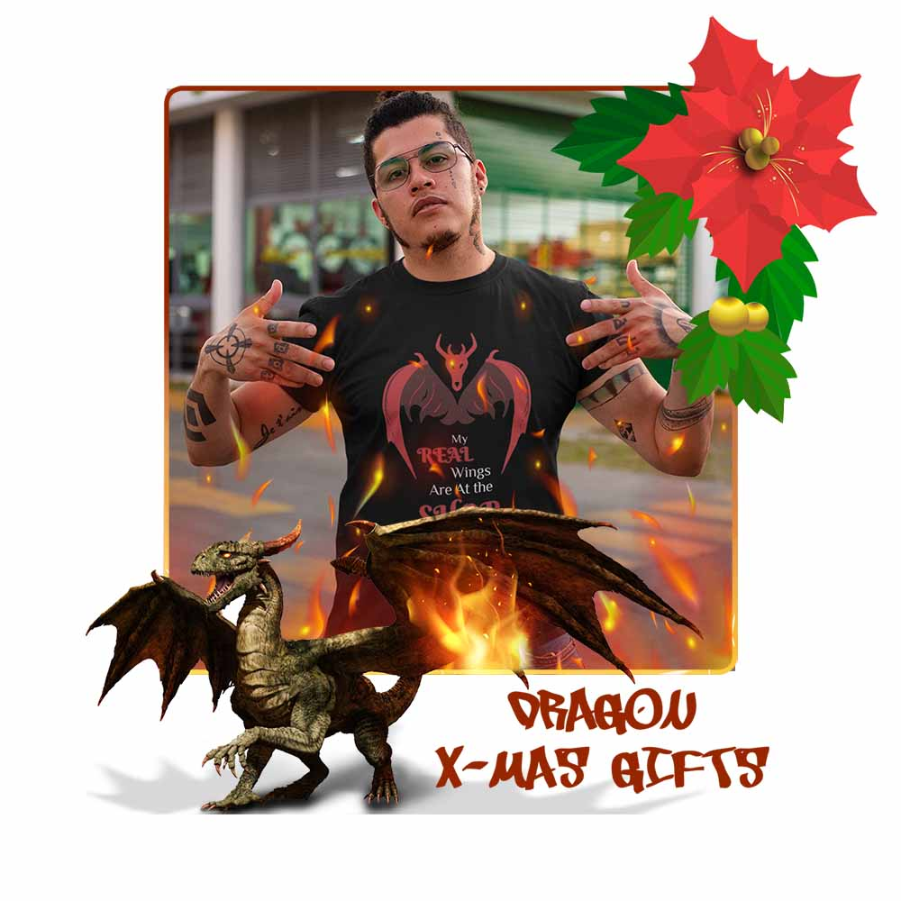 My Real Wings are at the Shop - Unisex Dragon T-shirt