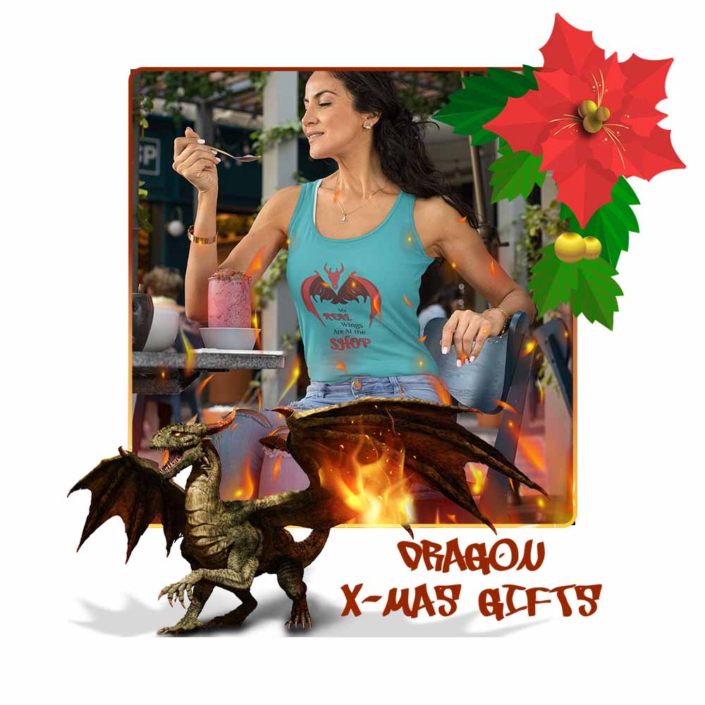 My Real Wings are at the Shop - Women's Dragon Tank Top