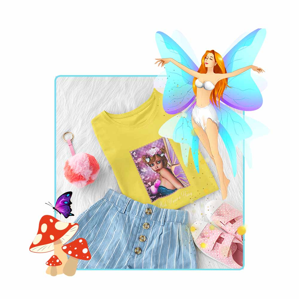 "Scamp - ""Wish I was a Fairy"" - Girl's Princess Fairy T-shirt"