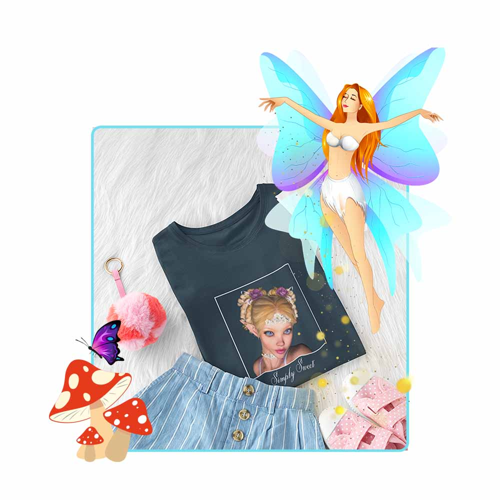 "Simply Sweet - ""Simply Sweet"" - Girl's Princess Fairy T-shirt"