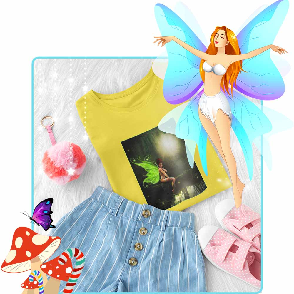 The Lonely Fae - Girl's Princess Fairy T-shirt