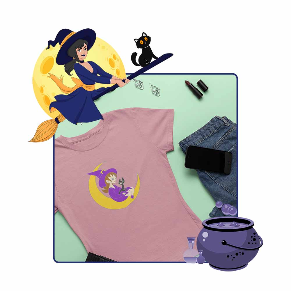 The Witch In The Moon - Women's Witch T-shirt