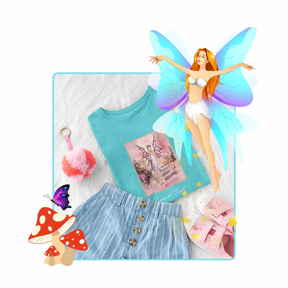 "The Pink Fairy - ""Fairies are Real!"" - Girl's Princess Fairy T-shirt"