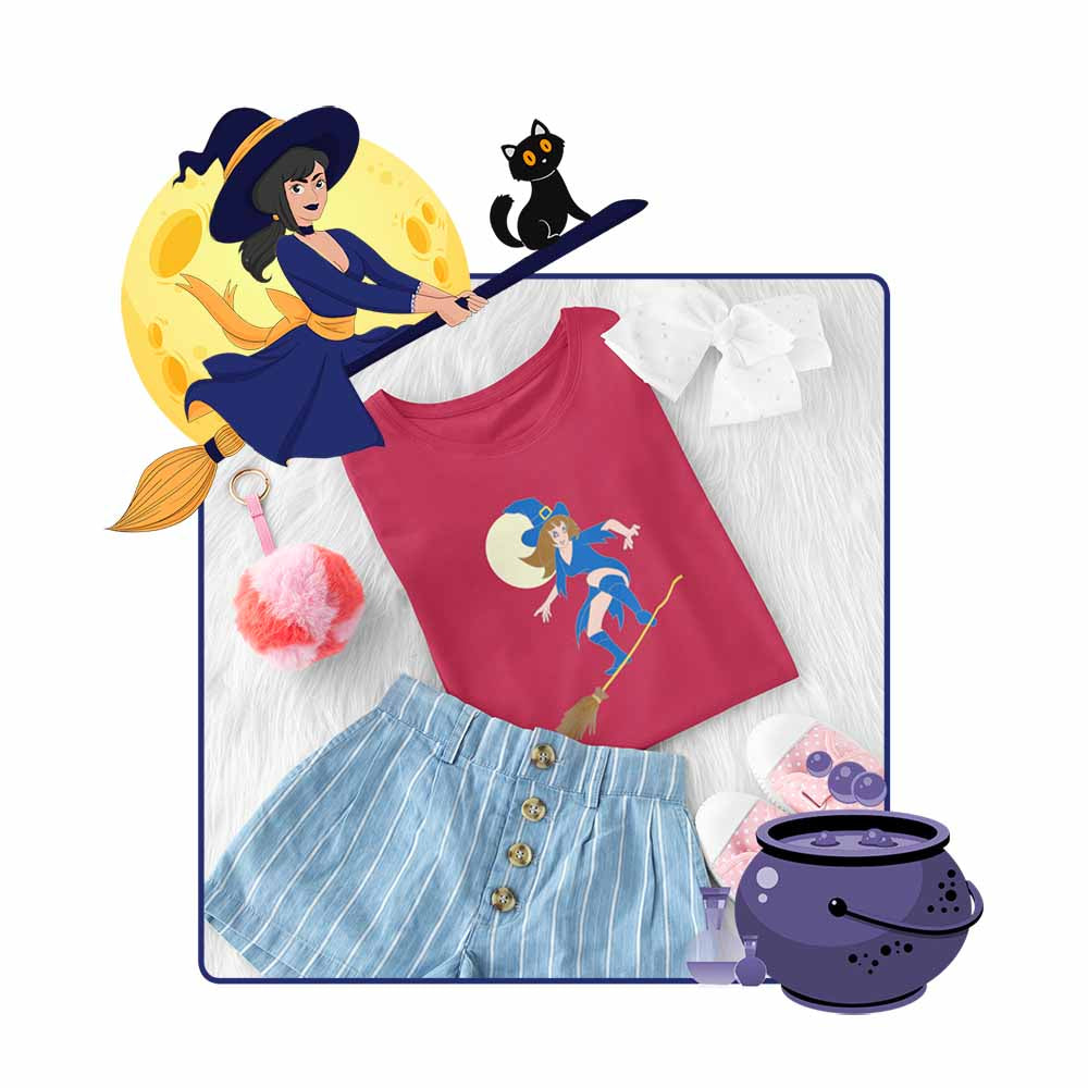 Witch's Joyride - Girl's Princess Witch T-shirt