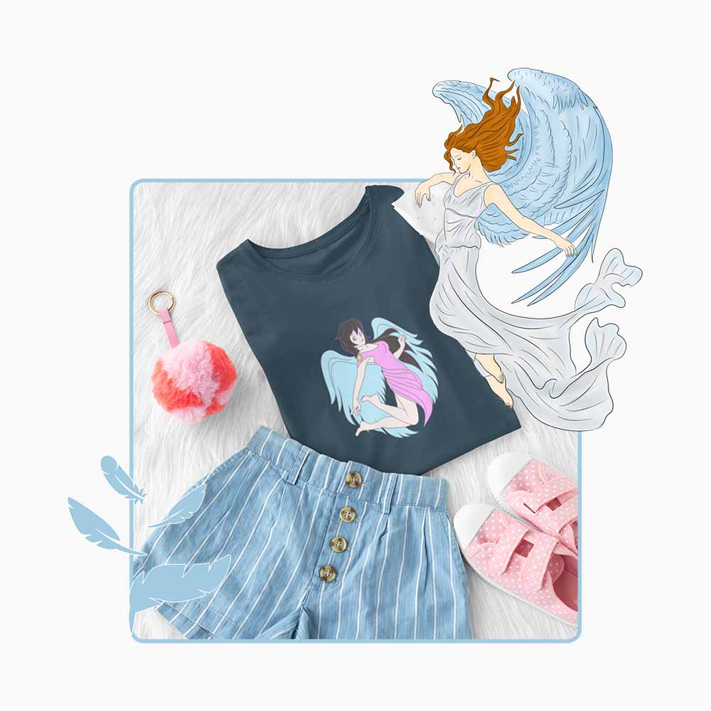 Every Time A Bell Rings - Blue Wings - Girl's Princess Angel T-shirt