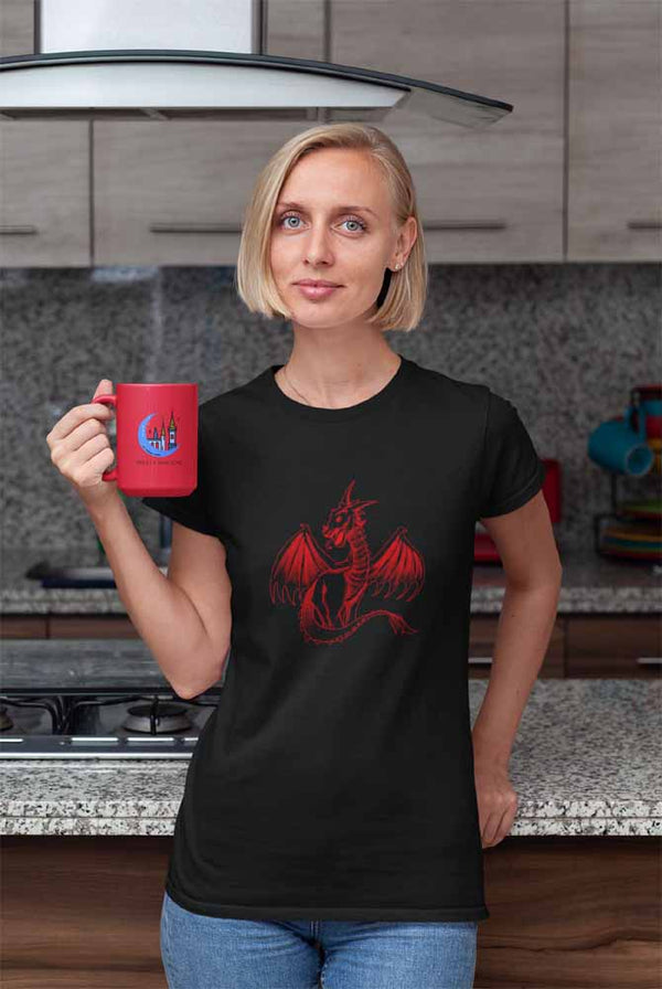 Boldur - The Fire Dragon - Women's Dragon T-shirt