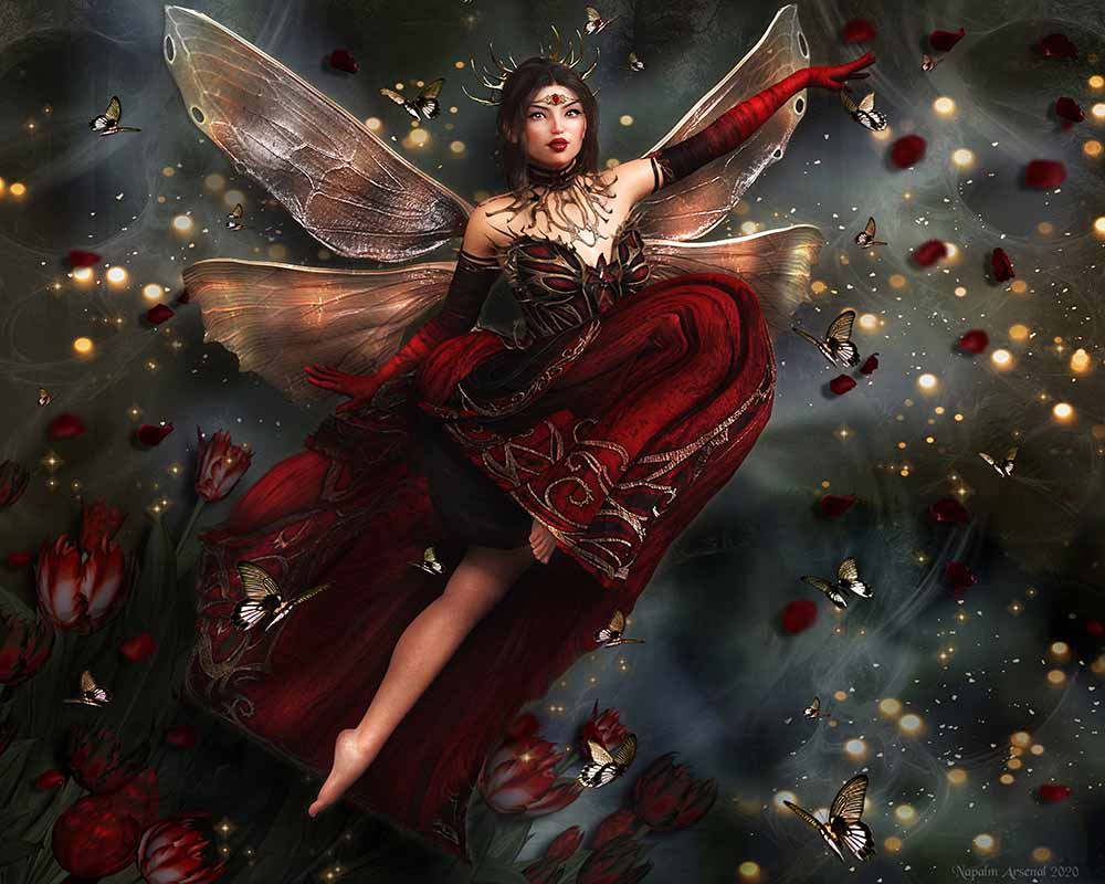 Cerise - Fairy Art Prints & Posters
