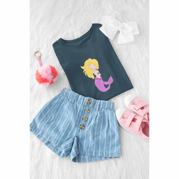 Chillin' Mermaid - Girl's Princess Mermaid T-shirt