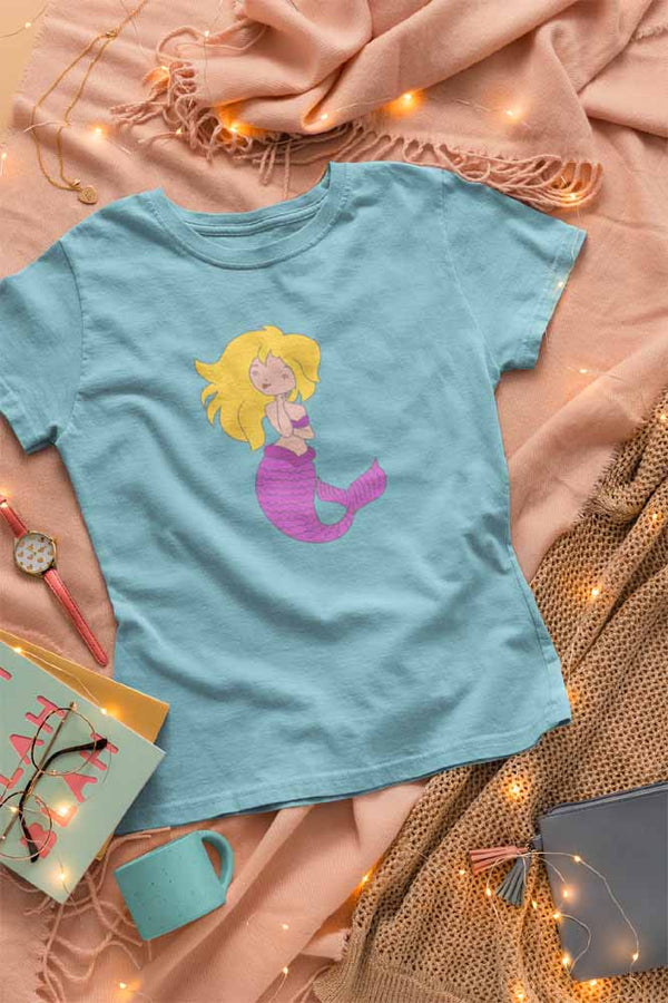 Chillin' Mermaid - Women's Mermaid T-shirt