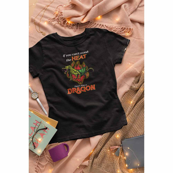 Don't Kiss A Dragon - Women's Dragon T-shirt