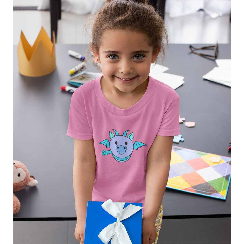 Dragon Bug - Blue - Girl's Princess Dragon T-shirt