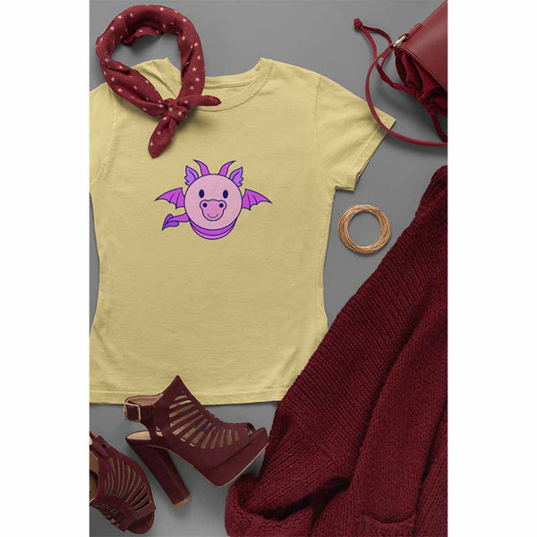 Dragon Bug - Purple - Women's Dragon T-shirt