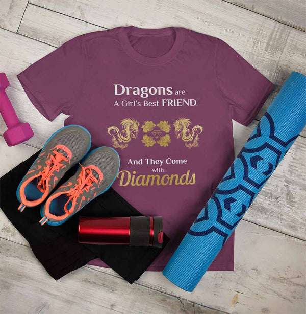 Dragons are a Girl's Best Friend - Unisex Dragon T-shirt