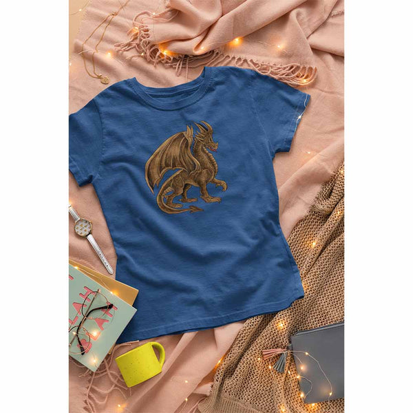 Drako The Dragon - Brown - Women's Dragon T-shirt