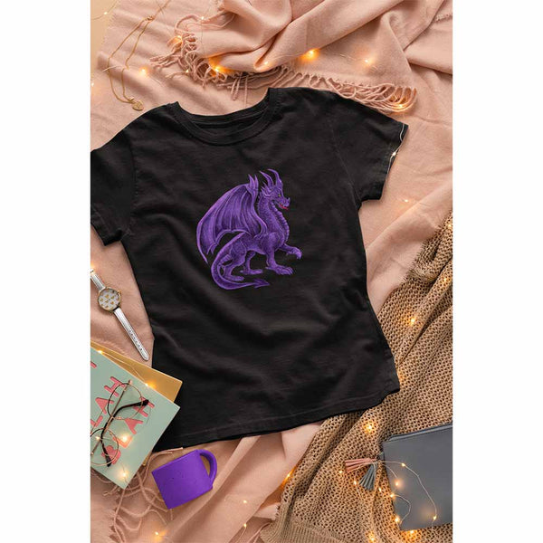 Drako The Dragon - Violet - Women's Dragon T-shirt