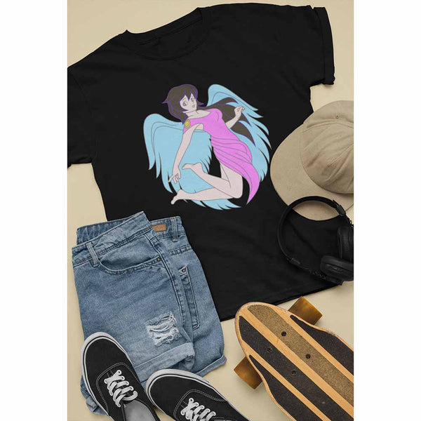 Every Time A Bell Rings - Blue Wings - Unisex Angel T-shirt