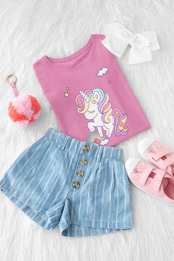 Frannie Cloudjumper - Girl's Princess Unicorn T-shirt