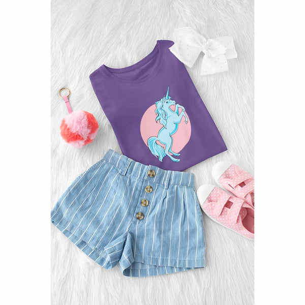 Frolicking Unicorn - Girl's Princess Unicorn T-shirt