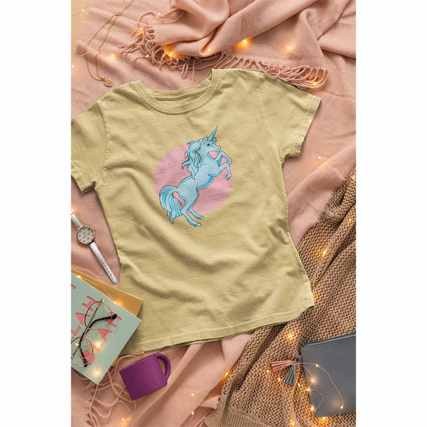 Frolicking Unicorn - Women's Unicorn T-shirt