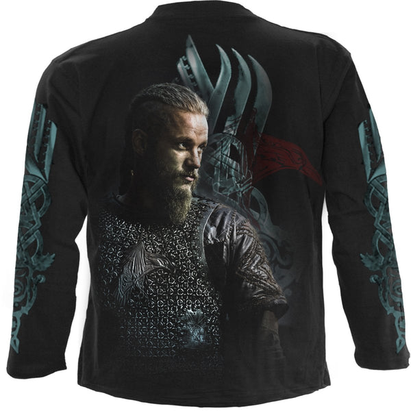 Ragnar - Vikings - Black Longsleeve Shirt