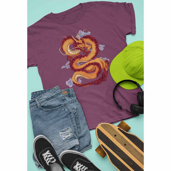 Huanglong The Yellow Dragon - Unisex Dragon T-shirt