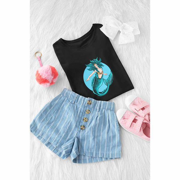 Maritha Longtail - Girl's Princess Mermaid T-shirt: