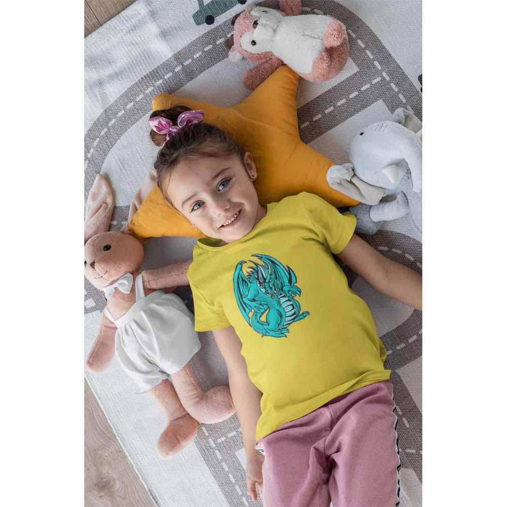 Mogdor The Dragon - Seafoam - Girl's Princess Dragon T-shirt